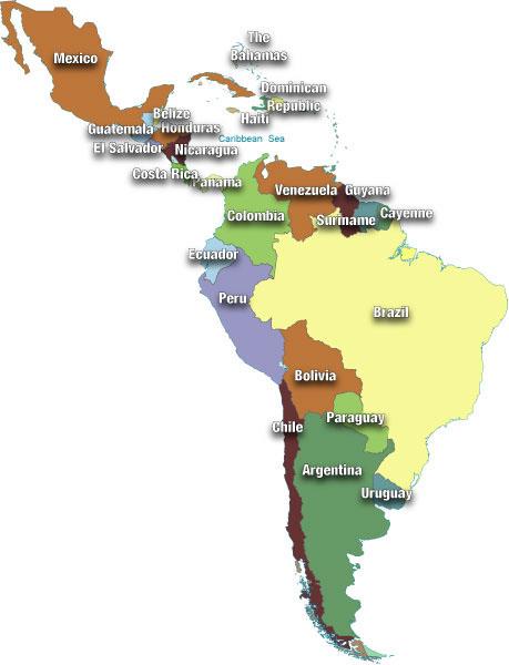 Caribbean Sea South America Map.Reflexions South America Latin America